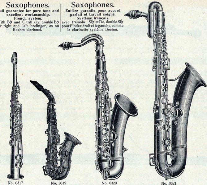 La famille des saxophones