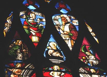 Tympan de vitrail à la cathédrale d'Auch
